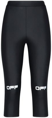 Off-White Active Capri Cropped Pants
