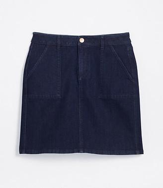 LOFT Tall Denim Utility Skirt