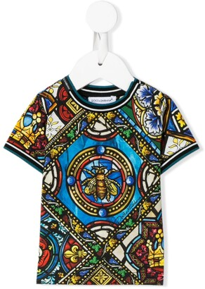 Dolce & Gabbana stained glass print T-shirt