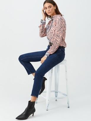 Very Animal Print Mix Shirt - Pink