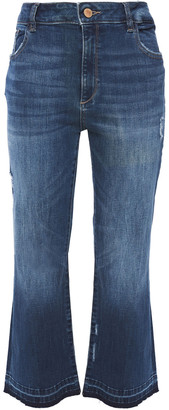 DL1961 Distressed High-rise Kick-flare Jeans