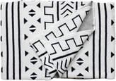 Mali Printed Throw Blanket in White