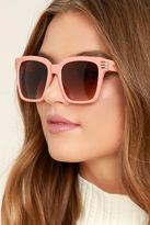 LuLu*s Perverse Avery Blush Sunglasses