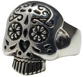 Femme Metale Jewelry Sugar Skull Ring