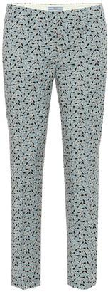 Prada Printed wool-blend twill pants