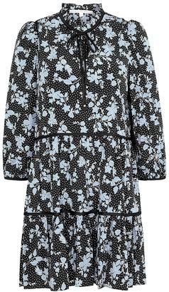 Veronica Beard Hawken printed stretch-silk dress
