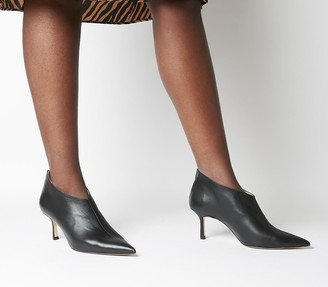 Office Macs Pointed Shoeboots Black Leather