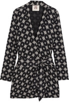 Figue Akila Printed Crepe Jacket - Black