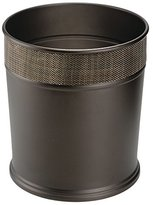 mDesign Steel Wastebasket Trash Can - Bronze