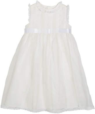 Luli & Me Lace-Trim Sleeveless Organza Dress, Size 12-24 Months