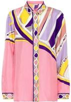 Emilio Pucci Printed silk-satin shirt