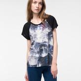 Paul Smith Women's Black T-Shirt With 'Disco Balls' Print