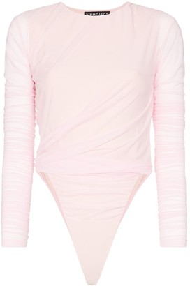 Y/Project Cut Out Hip Long Sleeved Bodysuit