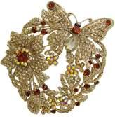 """T&T Jewelry TTjewelry 3.85"""" Elegant Austrian Crystal Butterfly Flower Brooch Pin"""