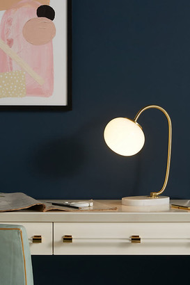 Anthropologie Pearl LED Task Lamp By in White Size ALL