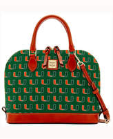 Dooney & Bourke Miami Hurricanes Zip Satchel