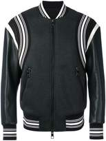 Neil Barrett striped trim bomber jacket