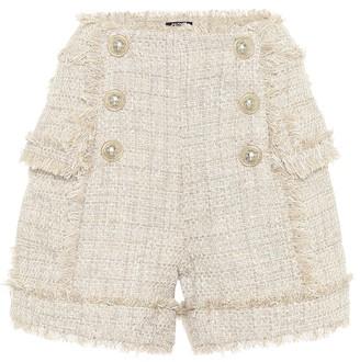 Balmain Tweed high-rise shorts