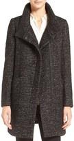 Cole Haan Women's Stand Collar Wool Blend Swing Coat