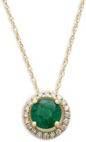 Saks Fifth Avenue 14K Yellow Gold, Emerald & Diamond Pendant Necklace