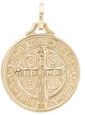 Dru St. Benedict 14kt yellow gold medallion charm