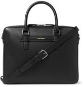 Dolce & Gabbana Cross-grain Leather Briefcase - Black