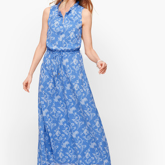 Talbots Floral Paisley Maxi Dress