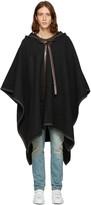 Dolce & Gabbana Grey Wool Poncho Coat