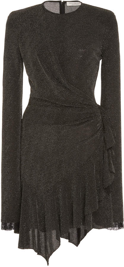 Philosophy di Lorenzo Serafini Draped Studded Jersey Mini Dress