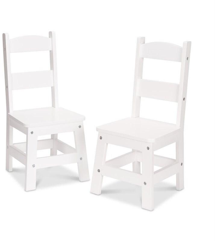 Melissa & Doug Wooden Chair White 2-Pack