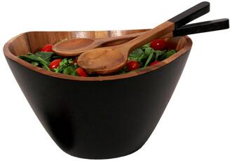 Woodard & Charles Onyx 12In Salad Bowl With Servers