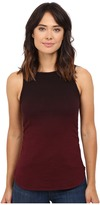 Heather Ombre Shirred Side Tank Top
