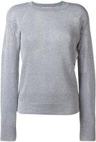 MICHAEL Michael Kors metallic thread sweater - women - Cotton/Acrylic/Polyester/Metallic Fibre - L