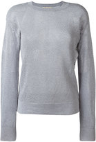 MICHAEL Michael Kors metallic thread sweater - women - Cotton/Acrylic/Polyester/Metallic Fibre - S