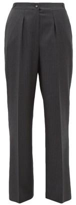 Officine Generale Diana Pinstripe Wool Trousers - Womens - Grey