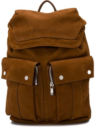 Brunello Cucinelli Zipped Pocket Backpack