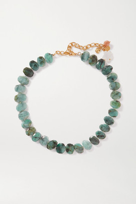 Chan Luu Gold-plated Multi-stone Necklace - Green