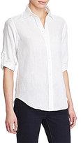 Lauren Ralph Lauren Linen Roll-Cuff Shirt