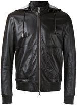 Eleventy hooded zip up jacket - men - Cotton/Leather/Polyester/Spandex/Elastane - 48