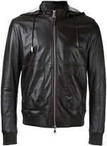 Eleventy hooded zip up jacket