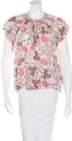 Ulla Johnson Printed Short Sleeve Top