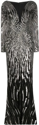 ZUHAIR MURAD Sequin-Embellished Chiffon Gown