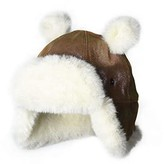UGG Suede Trapper with Ears and Sherpa Lining Hat (Toddler/Little Kids) (Chestnut Fuchsia) Caps