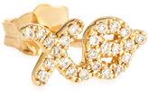 Sydney Evan Jewelry 14K Gold XO Stud Earring with Diamonds