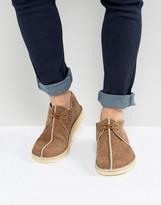 Clarks Suede Desert Shoes In Brown