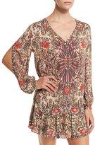 Haute Hippie Sagat Long-Sleeve Floral Silk Blouse, Talitha