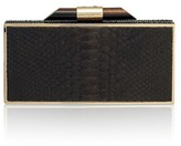 Amanda Wakeley Beatty Cocoa Python Clutch Bag