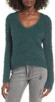 J.o.a. Metallic Fuzzy Sweater
