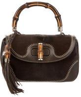 Gucci Ponyhair New Bamboo Medium Top Handle Bag