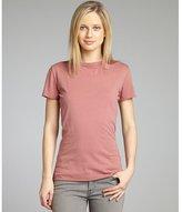 garnet stretch jersey knit open back t-shirt
